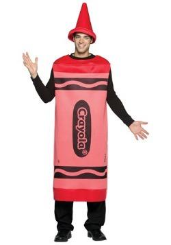 Disfraz de crayón rojo para adulto