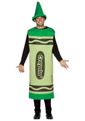 Disfraz de crayón verde para adulto