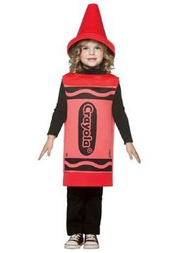 Disfraz de crayón rojo para niños pequeños