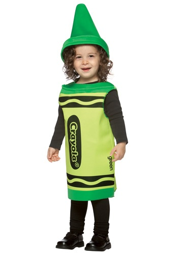 Disfraz de crayón verde para niños pequeños