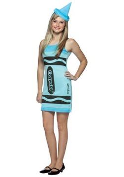 Vestido de Crayon azul cielo para adolescente