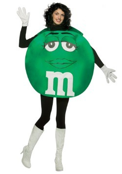 Disfraz de M&M verde