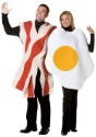 Disfraz de tocino y huevos