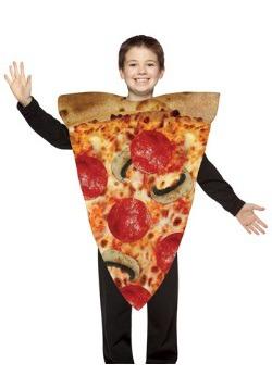 Disfraz de rebanada de pizza para niños