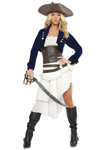 Disfraz de pirata colonial de lujo