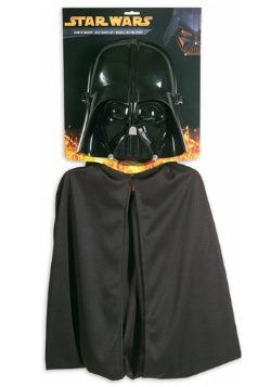 Capa y máscara de Darth Vader para niños