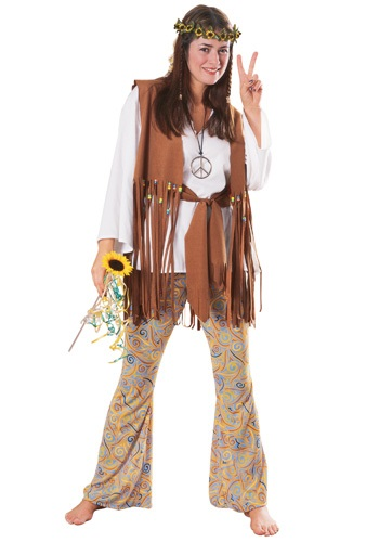 Disfraz infantil Hippie Love para adulto