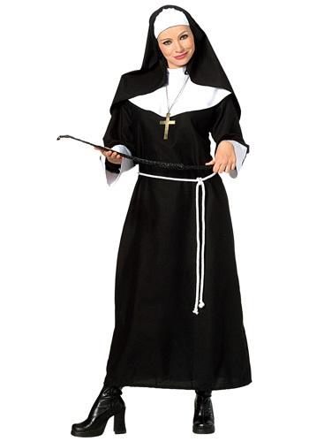 Disfraz clásico de monja para adulto