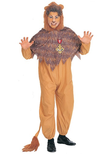 Disfraz de león cobarde talla extra