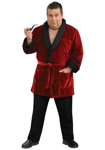 Disfraz de Hugh Hefner talla extra