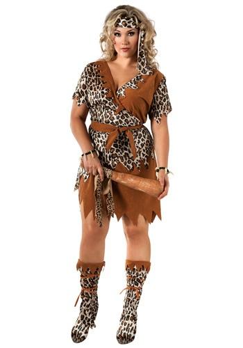 Disfraz de mujer de las cavernas de talla extra