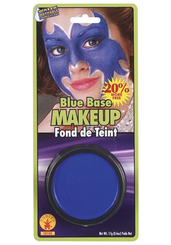 Base de maquillaje azul