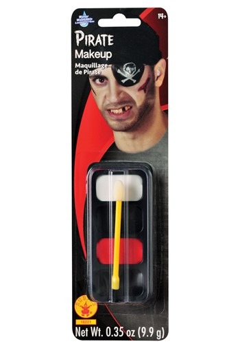 Maquillaje facial de pirata
