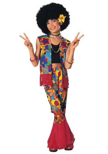 Disfraz de hippie poder de las flores para niñas