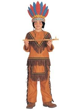 Disfraz de niño nativo americano