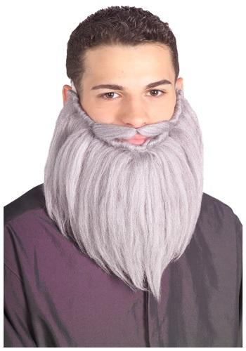 Barba y bigote de mago gris