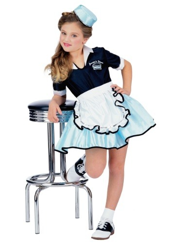 Disfraz de mesera de autocinema para niños