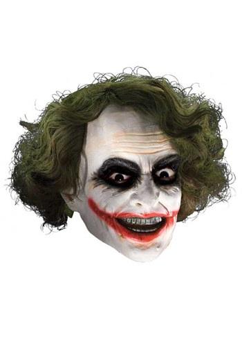 Máscara de Joker deluxe con pelo para adulto