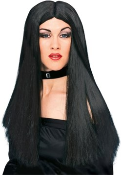 Peluca de bruja negra