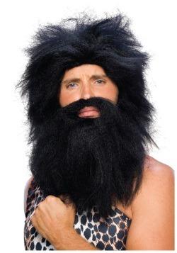 Peluca y barba negra prehistórica