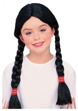 Peluca de disfraz de nativo americano para niños