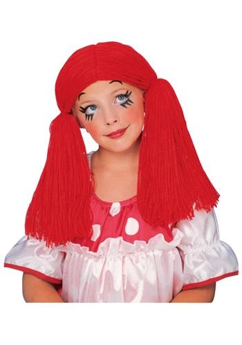 Peluca de muñeca de trapo para niña