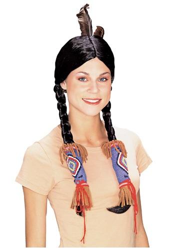 Peluca india de Pocahontas para adultos