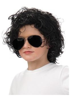 Peluca de Michael Jackson para niños