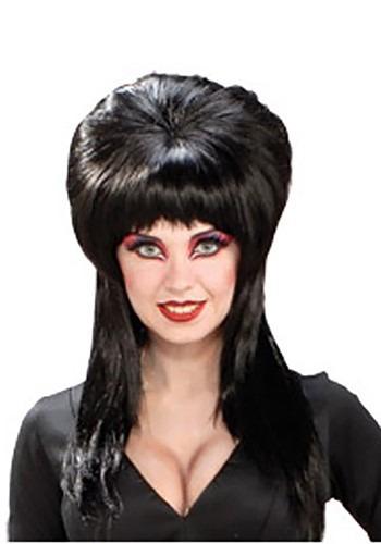 Peluca de disfraz de Elvira