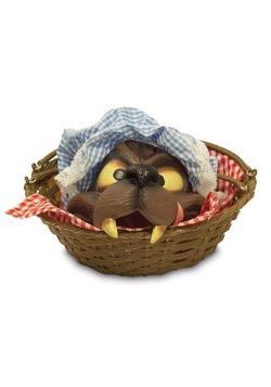 Cabeza de lobo en cesta