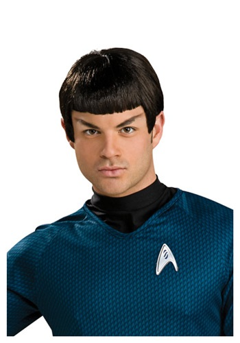 Peluca de Spock de vinilo con orejas