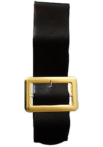 """Cinturón negro de vinilo de 4"""""""
