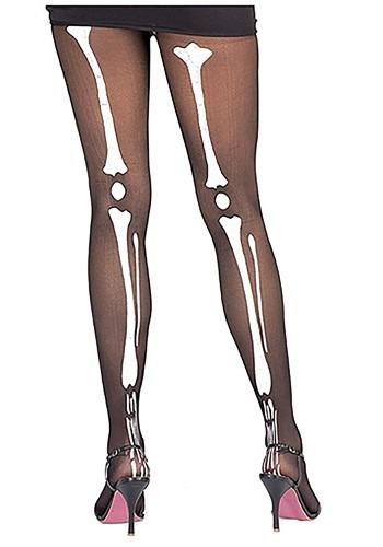Medias con estampado de esqueleto