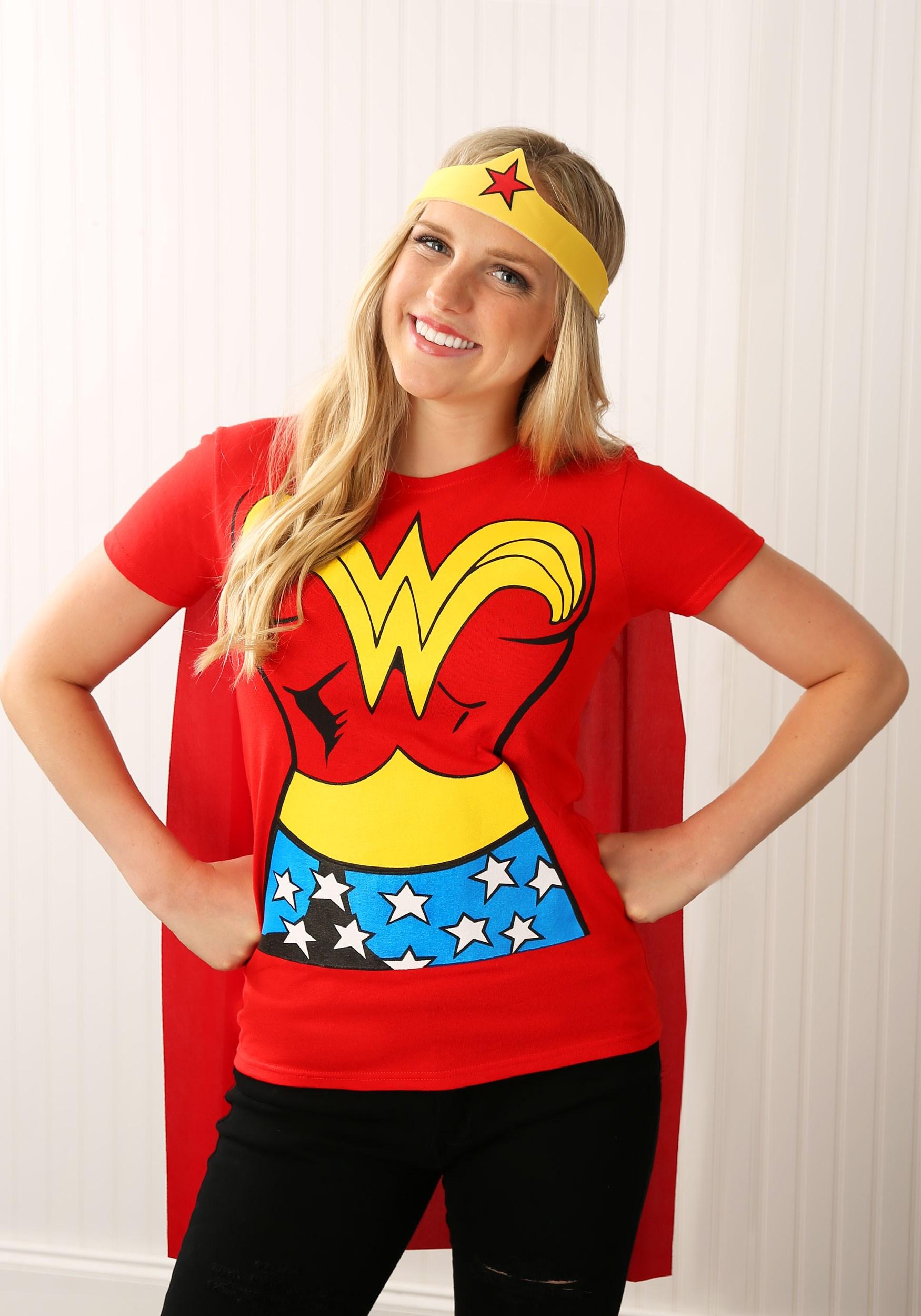 Vestido De Camiseta De Wonder Woman