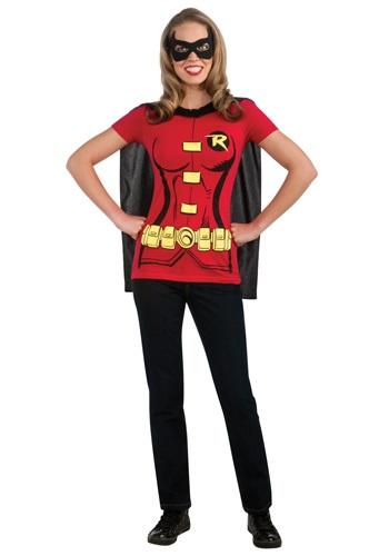 Disfraz de camiseta Robin mujer