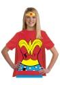 Disfraz de camiseta de la Mujer Maravilla