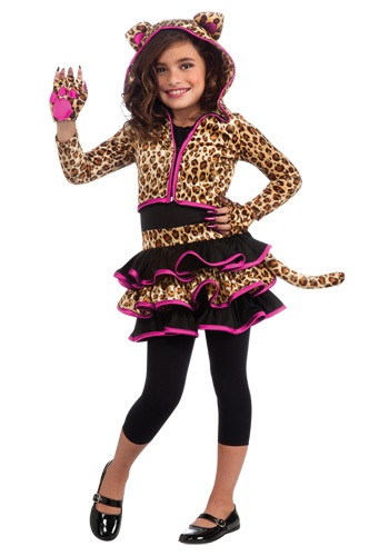 Disfraz de sudadera de leopardo para niñas