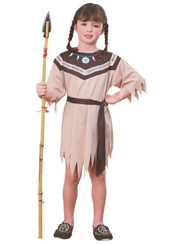 Disfraz de indio nativo de niña