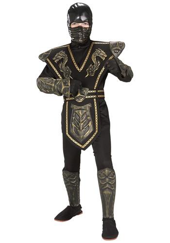 Disfraz infantil de Guerrero ninja dragón dorado