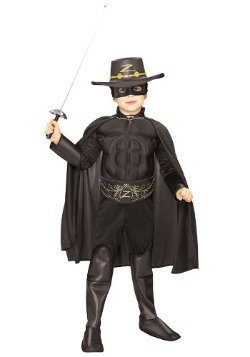 Disfraz de Zorro deluxe para niños