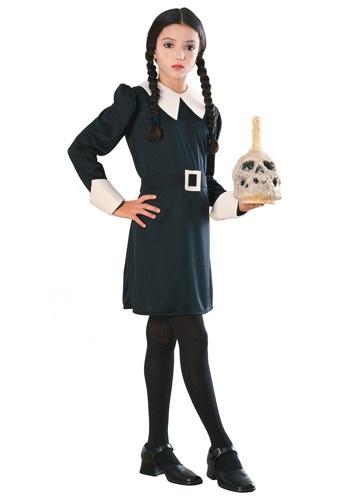 Disfraz de Merlina Addams para niños