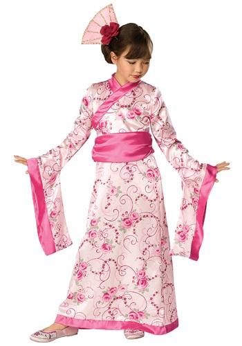 Disfraz de princesa asiática infantil
