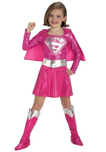 Disfraz infantil de Supergirl rosa