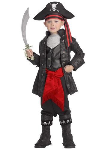 Disfraz de pirata capitán negro para niños
