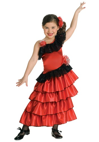 Disfraz de bailarina de flamenco para niñas