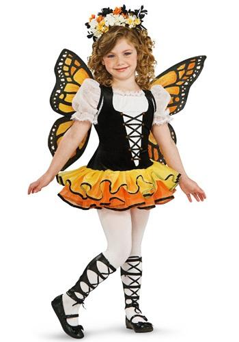 Disfraz de mariposa monarca para niños pequeños