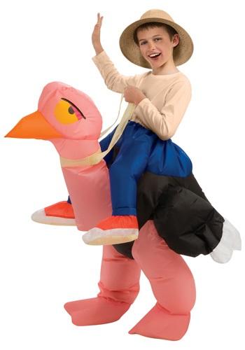 Disfraz de avestruz inflable para niños