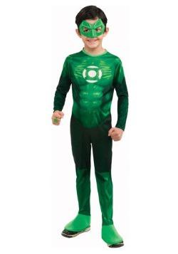 Disfraz de Linterna Verde deluxe para niños