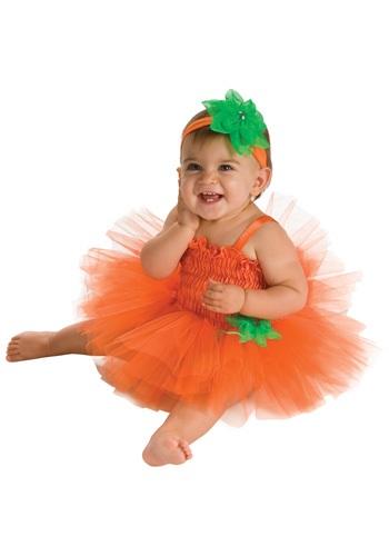Vestido de calabaza con tutú para bebé