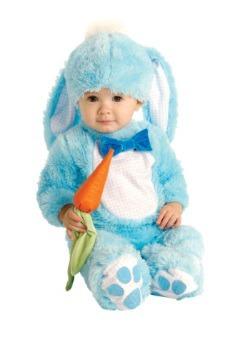 Disfraz de conejito azul bebé